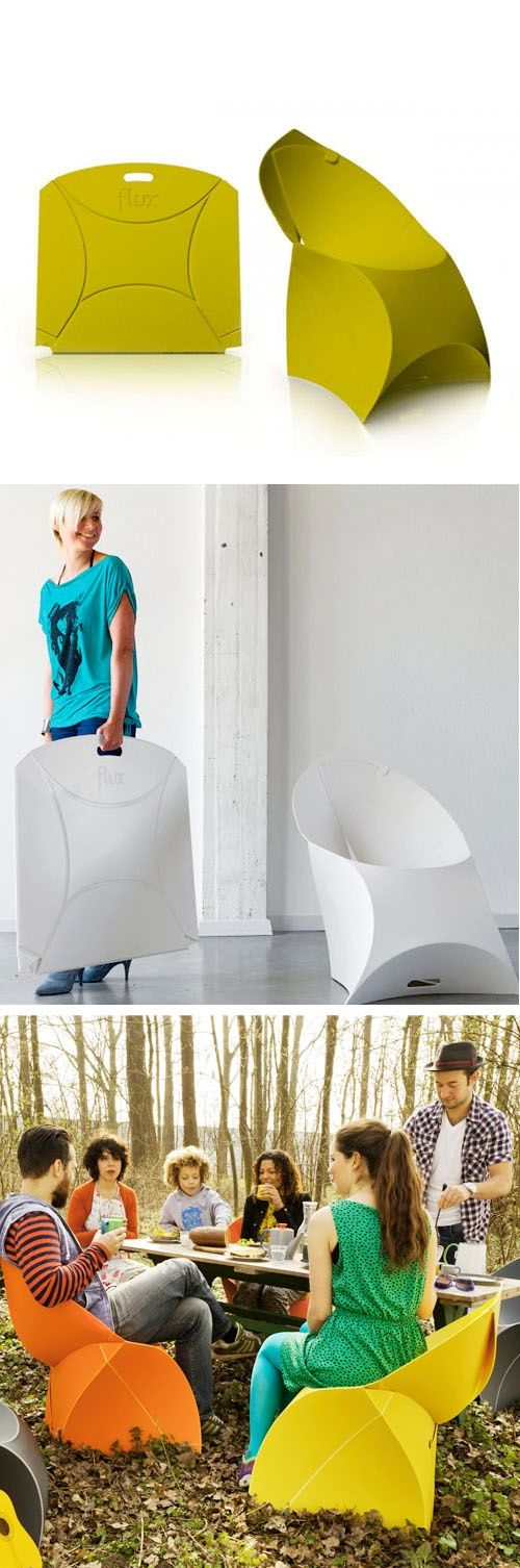 Flux Origami Chair - folds flat for easy storage