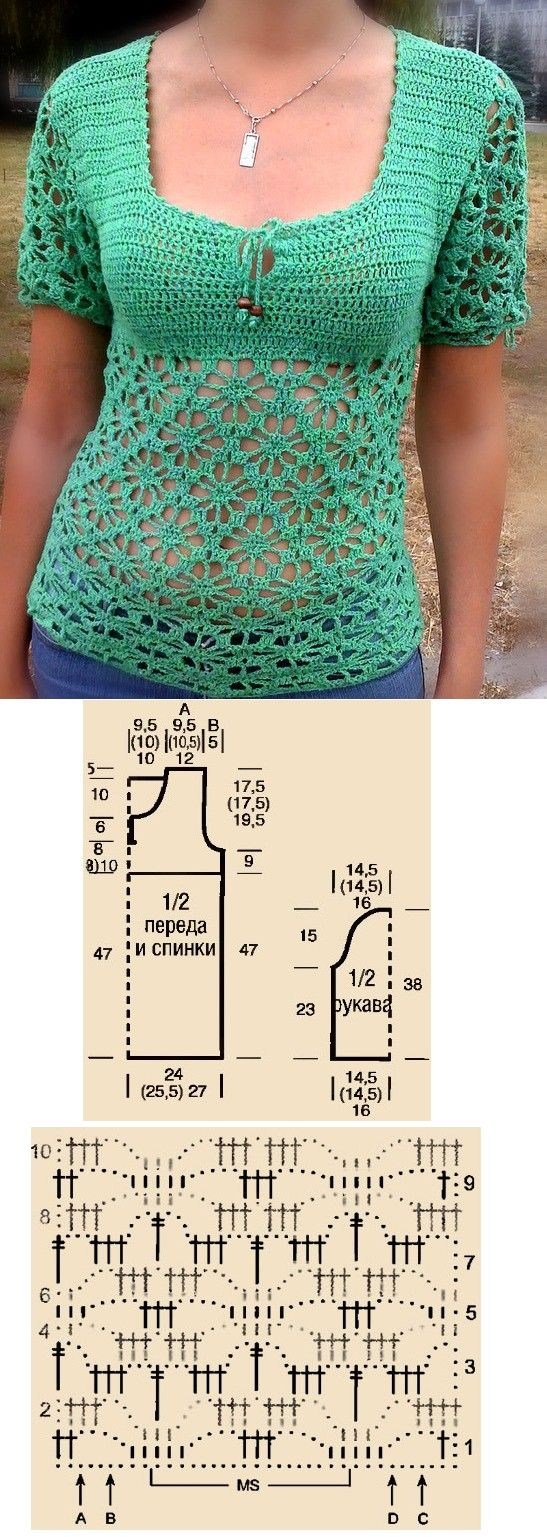 crochet top - lace + color = summer!!