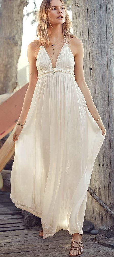 Halter Cover-Up Maxi - 52 Beach Outfits - VS Swim 2015 @styleestate