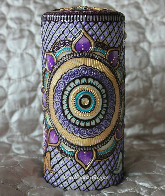 Check out this item in my Etsy shop https://www.etsy.com/ca/listing/266334489/bespoke-hand-painted-henna-candle