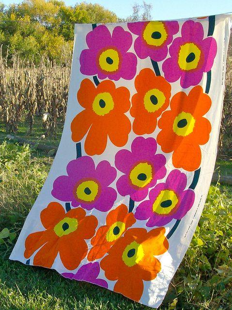 Vintage (1965) Marimekko fabric.