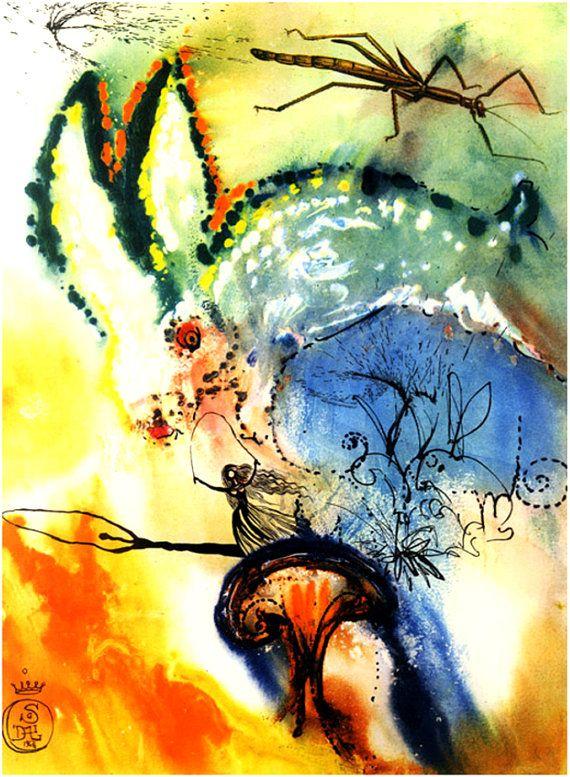 Set of x13 Alice in Wonderland rare Salvador Dali works