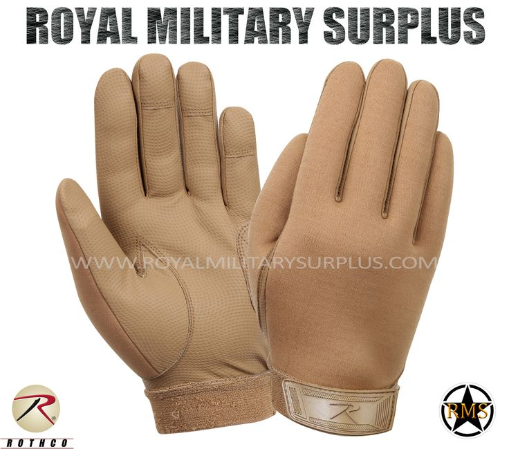Tactical Gloves - Commando Assault - COYOTE BROWN (Desert/Arid) - 39,95$ (CAD) | COYOTE BROWN (Desert/Arid) Tactical Camouflage Pattern Army/Military/Commando/Special Forces Design Made following Military Specifications Neoprene, Leather & Nylon Construction Synthetic Leather Palms Water Repellent Cold Weather Capacity Adjustable Wrist (Hook & Loop) BRAND NEW Available Sizes : S - M - L - XL http://www.royalmilitarysurplus.com/Gloves_c23.htm