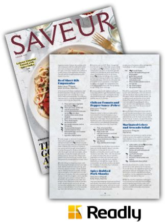 Suggestion about Saveur October 2015 page 81