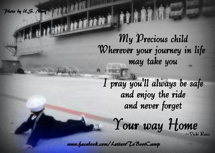 Never forget your way home my son. I love you and I miss you