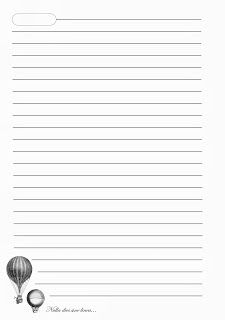 """Волшебные штучки от ЁLKi: Шаблоны страничек для блокнота """"Дирижабли"""""""