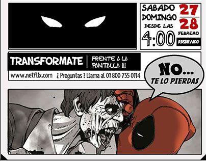 "Check out new work on my @Behance portfolio: ""Netflix - Pelicula Deadpool"" http://be.net/gallery/34261215/Netflix-Pelicula-Deadpool"