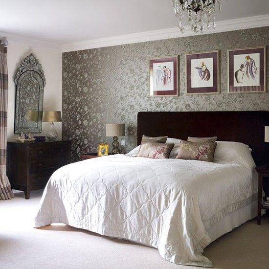 Bedroom Design Ideas Vintage Cream Table Lamp Wallpaperwallpaper Ideaswallpaper Accent Wallsbedroom For Decorating
