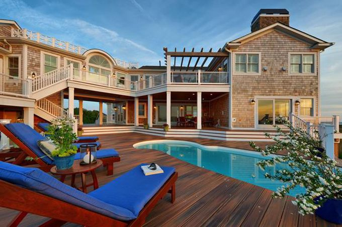 not too shabby of a patio and pool