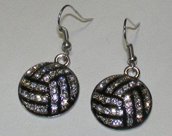 Items similar to Volleyball earrings- Volleyball Jewelry- Volleyball gifts on Etsy