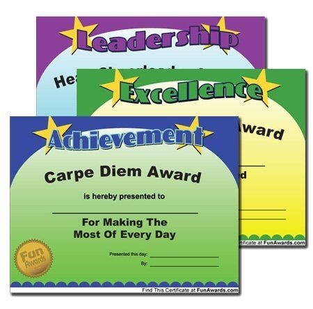 Funny Teacher Award Certificates - print as many as you like, customizable, too.