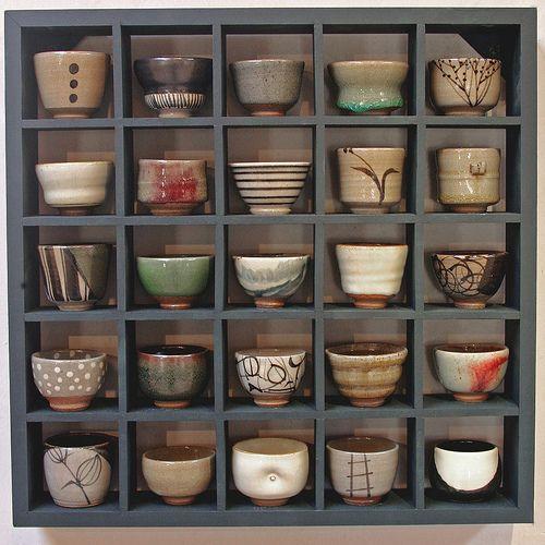 Montage de bols à thé japonais