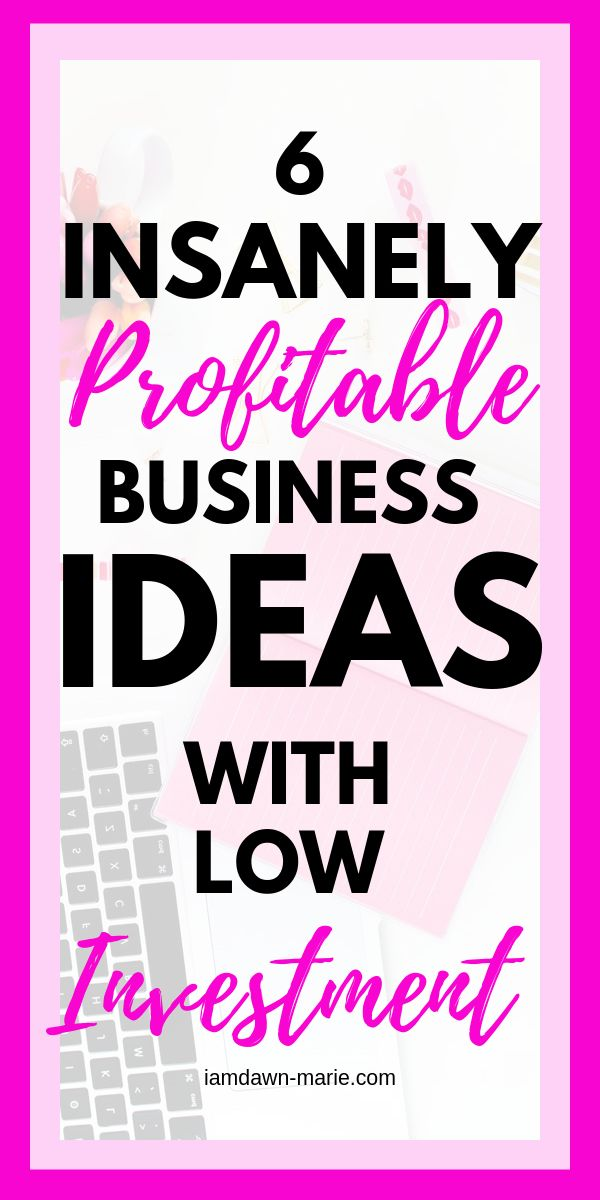6 Insanely Profitable Business Ideas With Low Investment