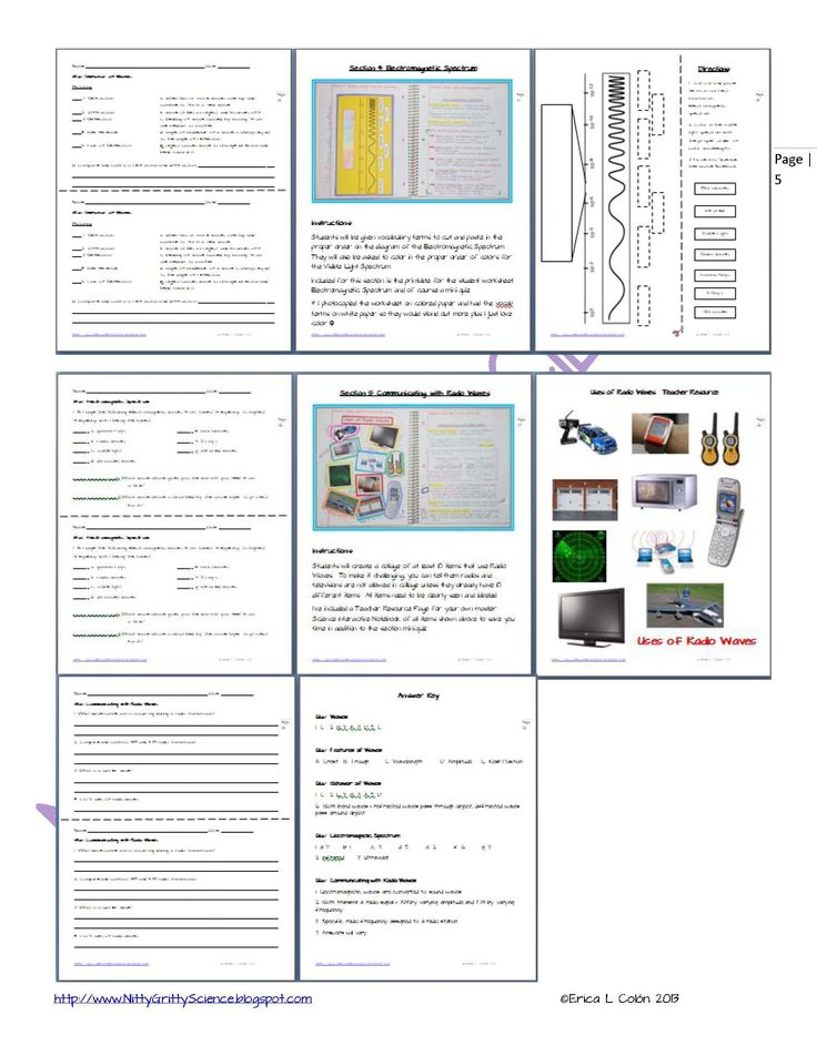 Spectrum Activity Worksheet Waves and the