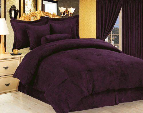 Purple Comforter Purple Micro Suede Duvet Cover Set