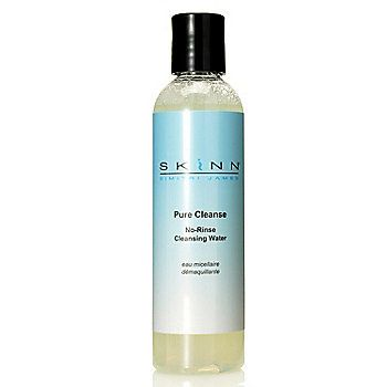 Skinn Cosmetics Pure Cleanse No-Rinse Cleansing Water 4.2 oz around $30 all 5 star reviews