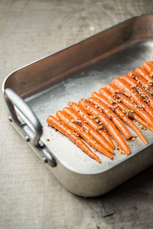 Gulerødder klar til ovnen - en fantastisk duft