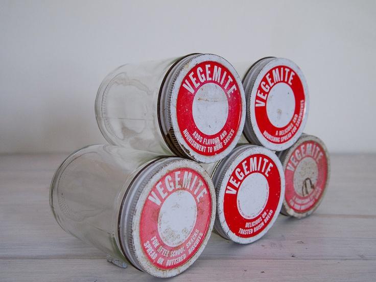 vintage large vegemite jars/vases