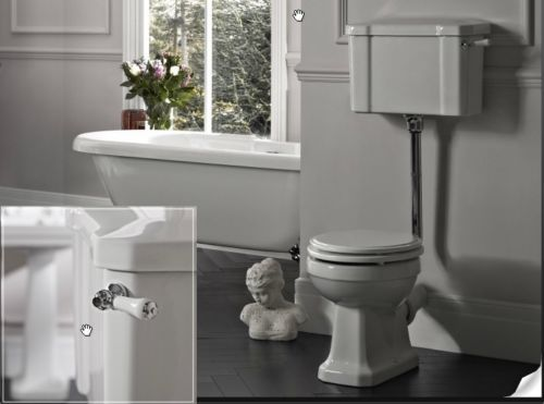 Tavistock-Low-Level-Victorian-Traditional-Legend-Toilet-Pan-Wc-Ceramic-Cistern