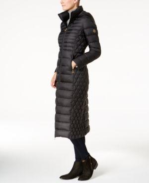 Michael Michael Kors Packable Maxi Down Puffer Coat - Black S