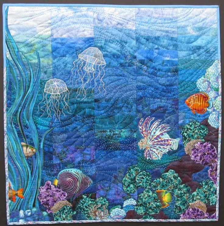 Bathroom Wall Art Canvas Artwork Nautical Coral Reef Ocean: Ocean Quilt