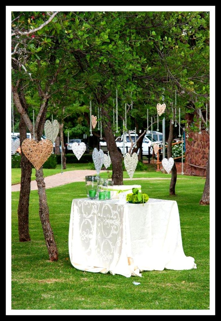 Ivory and green Bushveld Wedding          -Best Wishes Tree