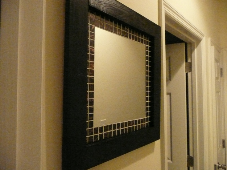 1000 Ideas About Mirror Border On Pinterest: DIY Mirror Frame.