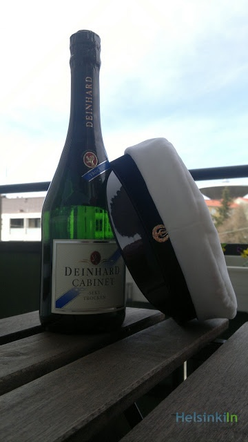The main ingredients of Vappu: Sparkling wine and the student cap