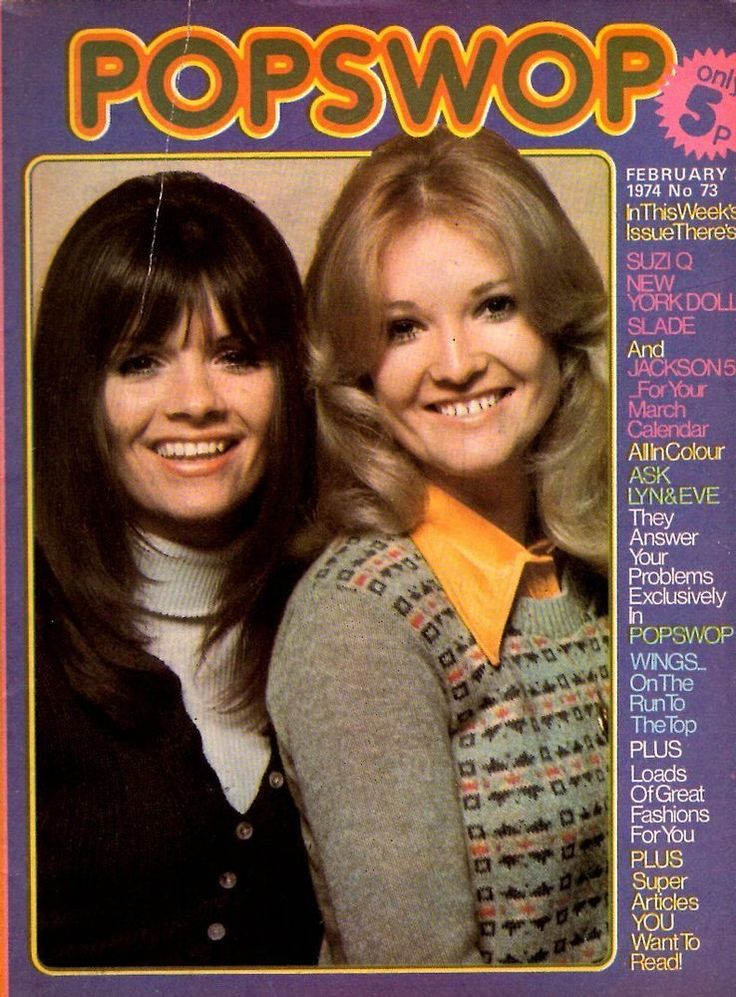 Lyn & Eve of The New Seekers on Magazine Cover 1974   Jackson 5   New York Dolls