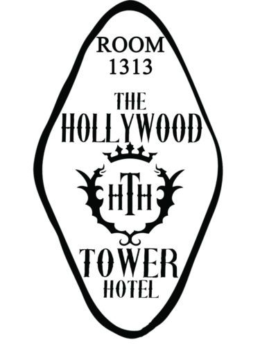 Hollywood tower hotel disney world decal car tower of terror sticker room key