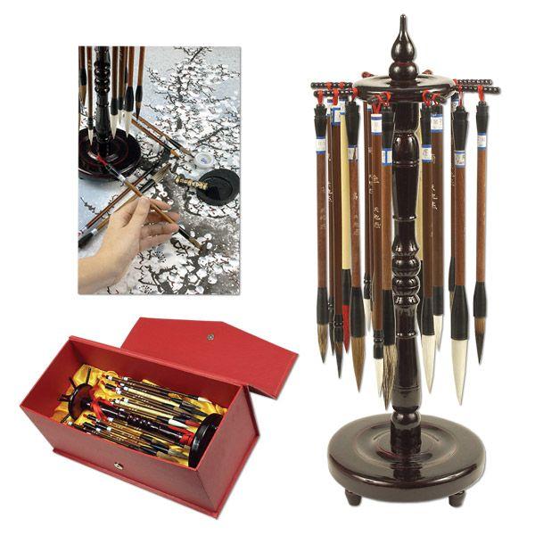 Golden Panda Chinese Calligraphy Master Brush Set - JerrysArtarama.com