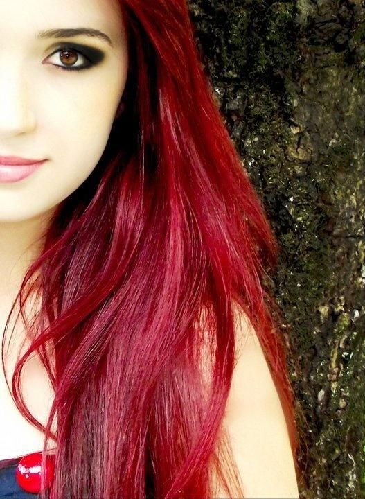 I love the long red hair