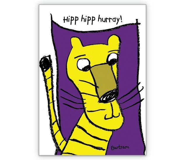 Hipp hipp hurray! Tiger - http://www.1agrusskarten.de/shop/hipp-hipp-hurray-tiger/    00015_0_1733, 30.,40.,50., Comic, Geburtstags Blumen, Glückwunschkarten, Gratulieren, hochleben, Raubkatze, Tiger, Wunsch00015_0_1733, 30.,40.,50., Comic, Geburtstags Blumen, Glückwunschkarten, Gratulieren, hochleben, Raubkatze, Tiger, Wunsch