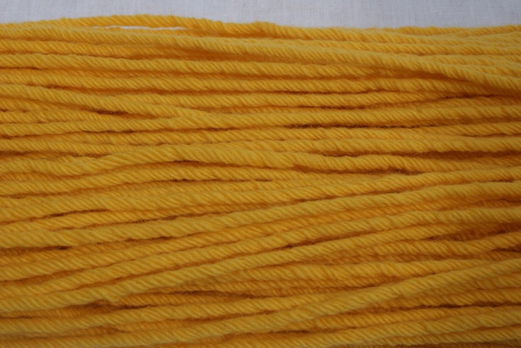 Rainbow Wools hand-dyed rug wool. Colour - Gold Price $18.00 200grams
