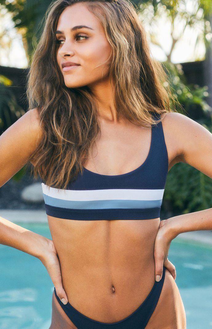 01fde8a01e69a PacSun : LA Hearts-Blue Riptide Sporty Cropped Bikini Top   summer ...