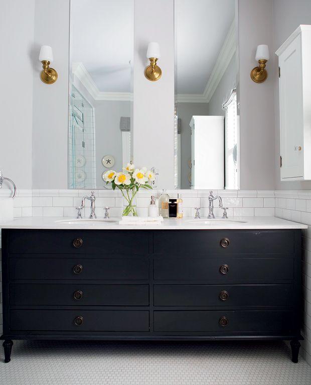 Salle de bain par @designjsb | Maison & Demeure