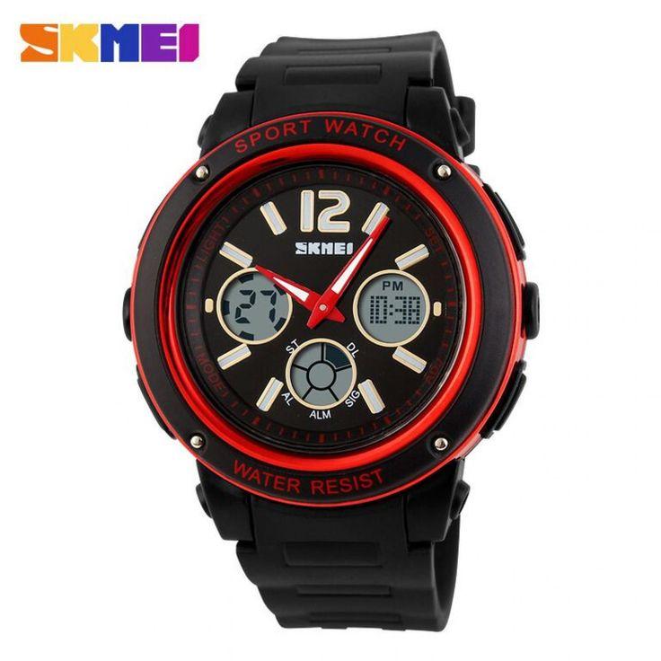 Jam Tangan Pria SKMEI Dual Time Sport Men LED Original AD1051