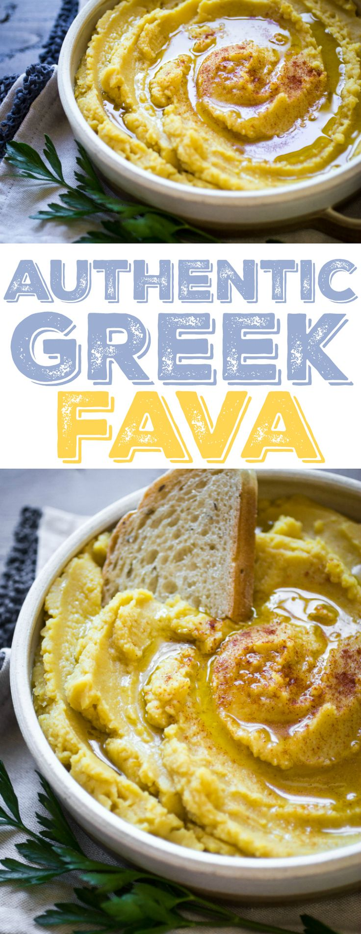 Traditional Greek Fava is one of the best things I tasted in Greece. All it takes is a handful of ingredients and a half an hour of time. Serve with plenty of crusty bread and red wine!