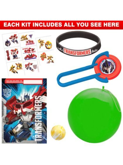 Transformers Party Favor Kit - Transformers Party Supplies