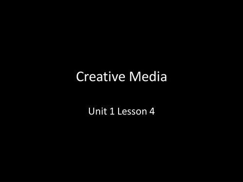 """GCSE Media Studies Intro Unit  """"Language arts lesson""""  """"high school"""""""