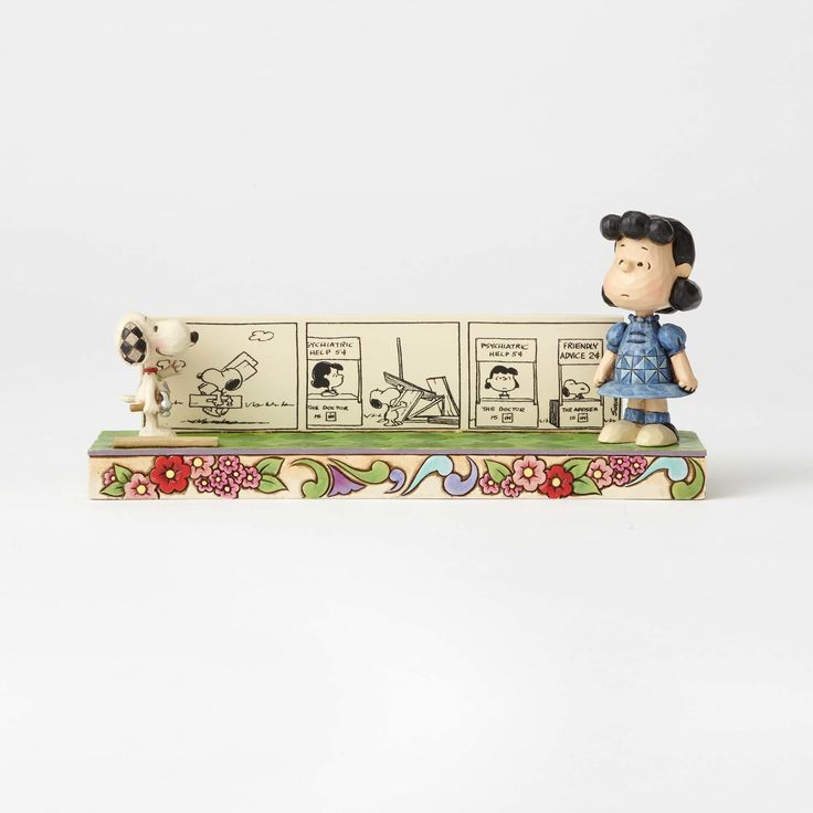 Friendly Competition-Lucy and Snoopy Comic Strip Figurine - Peanuts by Jim Shore