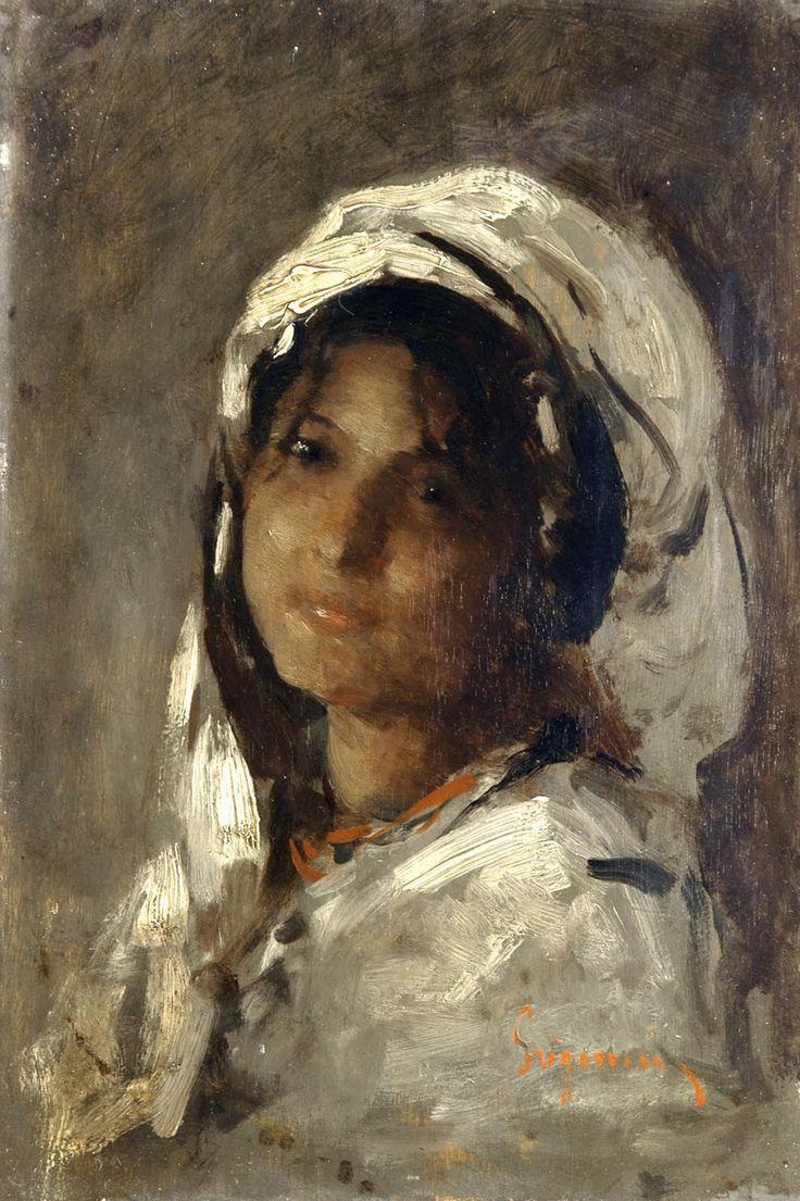 Tail Feathers, fleurdulys:  Nicolae Grigorescu Portrait of a...
