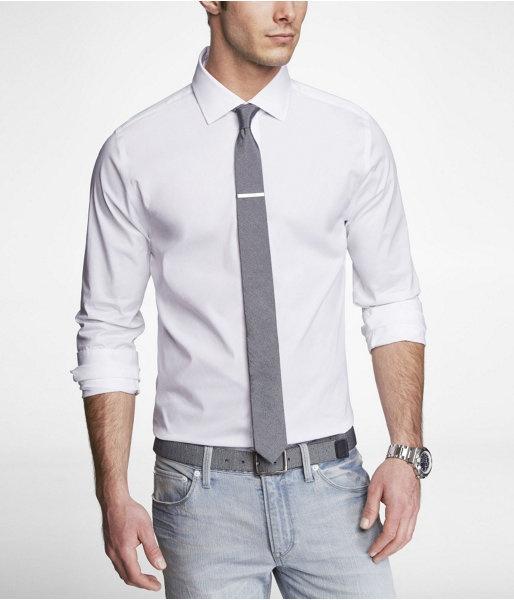 Express Mens Extra Slim 1Mx Spread Collar Shirt