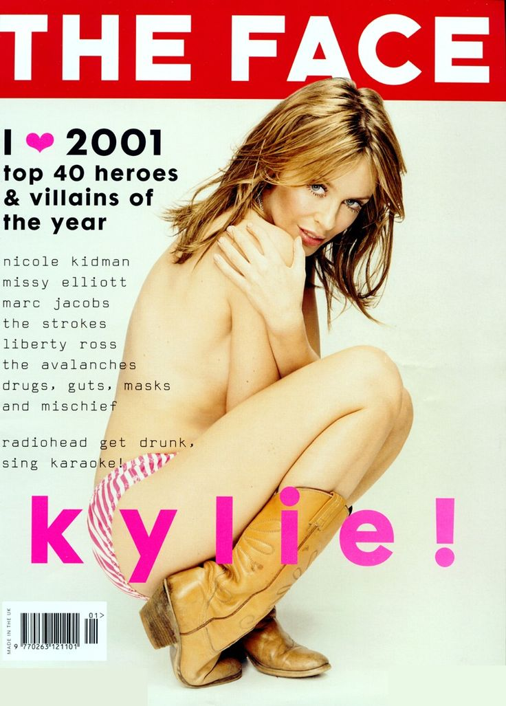 The Face January 2002: Kylie Minogue byLee Jenkins