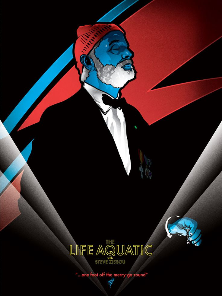 This Life Aquatic/Aladdin Sane poster mash-up is AWESOME. Love of a killer soundtrack.