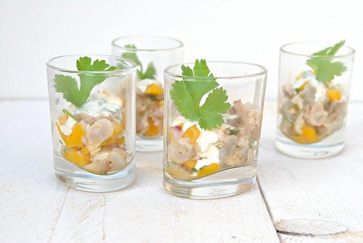 Tartaar van scampi en mango - Truitjeroermeniet