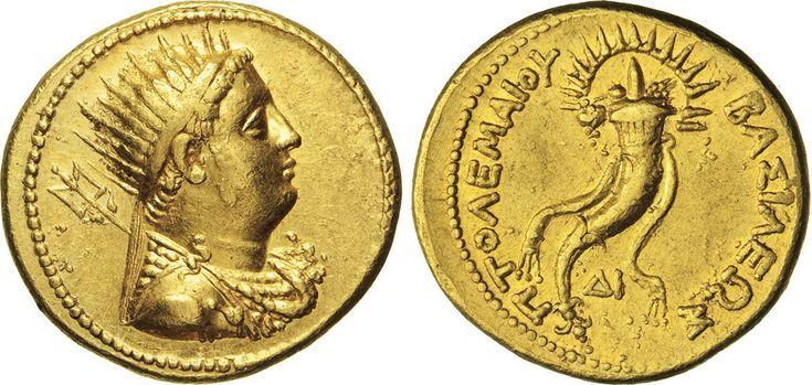 NumisBids: Numismatica Varesi s.a.s. Auction 65, Lot 26 : EGITTO - TOLOMEO IV (221-204) Octodracme d'oro. D/ Busto radiato...