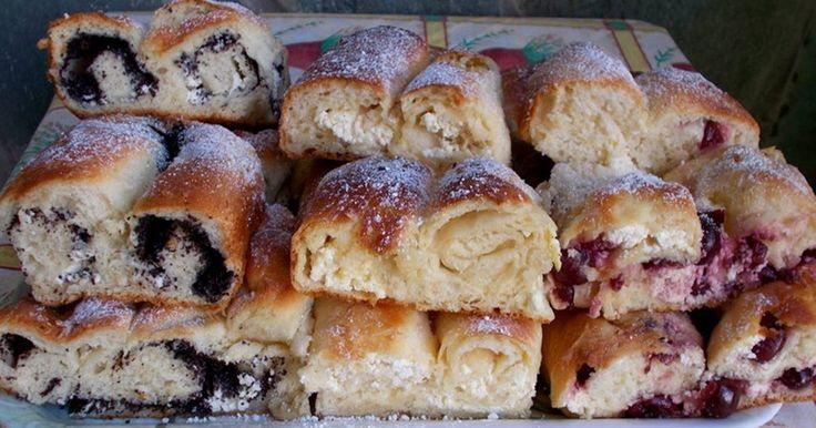 Mennyei Túrós, mákos, meggyes-túrós kelt rétes recept! Tegnap sütöttem, nagyon szeretjük.