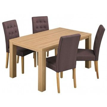 lpd furniture curve oak finish dining table from £117.99 with FREE delivery!