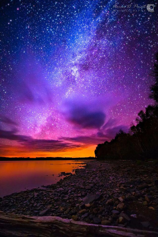 Milky Way over Spencer Bay, Moosehead Lake, Maine